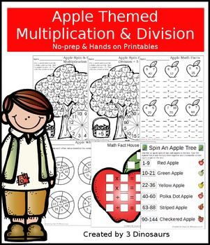 Apple Themed Multiplication & Division