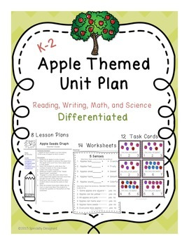 Apple Themed Unit Plan -Differentiated for K-2nd