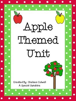 Apple Themed Unit for Early Childhood or Special Education