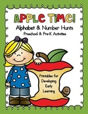 Apple Time - Alphabet and Number Hunt Pack