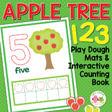 Apples Number Mats:  0-10 Play Dough Counting Mats and Int