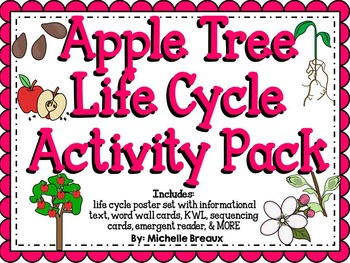 Apple Tree Life Cycle Activity Pack {science and literacy