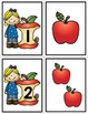 Number Matching Cards - Apples