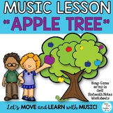 """Back to School Name Game Song """"Apple Tree"""" with Orff and K"""
