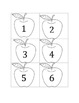 Apple Unit - Apple Math Game - Number Recognition Practice
