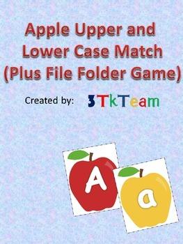 Apple Upper and Lower Case Letter Match (Plus File Folder Game)