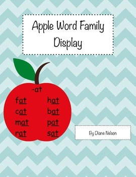 Apple Word Family Display!
