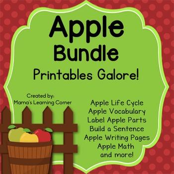 Apple Worksheets and Printables - BUNDLE!