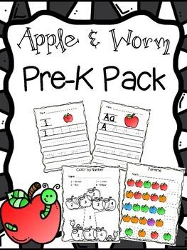 Apple & Worm Pre-K Pack