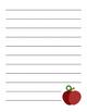 Apple and Pencil Stationary Sets Bundle with Variety Lines