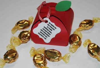 Apple gift for Open House, Parent teacher conferences, Christmas