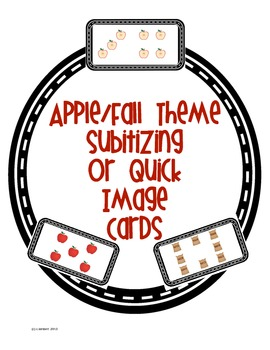 Apple or Fall Themed Subitizing Quick Image Cards