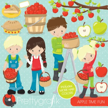 Apple picking clipart commercial use, vector graphics, dig