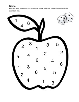 Apple roll and circle game