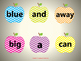Apple themed Pre Primer Sight Words