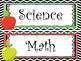 12 Apple themed Printable Classroom Center Signs. Class Ac