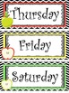 Apple themed Printable Days of the Week Classroom Bulletin