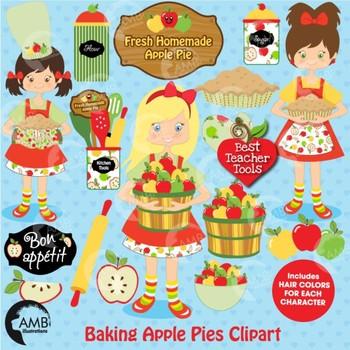 Clipart, Apple clip art, apple picking, baking clip art, d