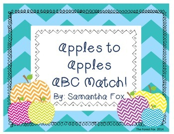 Apple to Apples ABC Match