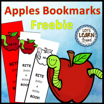 Apples Activities Bookmarks (free) For Apple Theme, Johnny