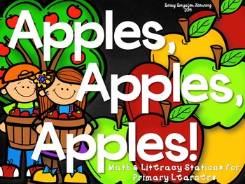Apples, Apples, Apples Math & Literacy Stations for Primar