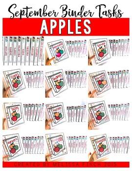 Apples Bundle- Independent Work Binder System