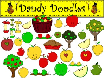 Apples Clip Art by Dandy Doodles