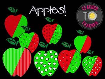 Apples Clipart {TeacherToTeacher Clipart} Back To School Apples!