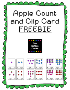 Apples Count and Clip Cards FREEBIE