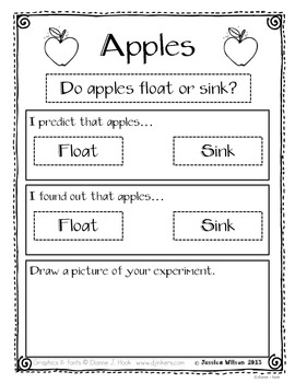 Apples - Do they float or sink?