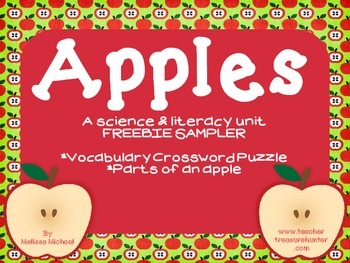 Apples ~ FREEBIE - Literacy & Science unit sampler