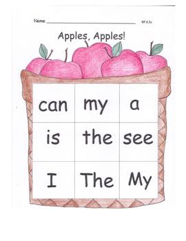 Apples Literacy MEGA Pack Poem Info Text Read Aloud HF Wor