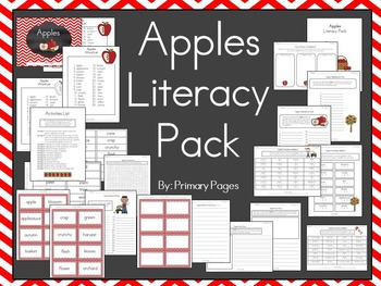 Apples Literacy Learning Centers Pack