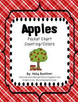 Apples Pocket Chart Math & Literacy Center