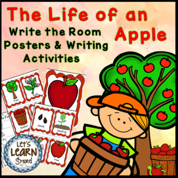 Apples Life Cycle Posters, Write the Room, Apple Themed Wr