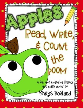 Apples! Read, Write, and Count the Room {Literacy and Math
