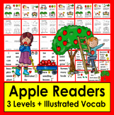 Apples Readers - 3 Reading Levels + Illustrated Vocab. for