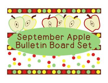 Apples September Fall Autumn Bulletin Board Border Printab
