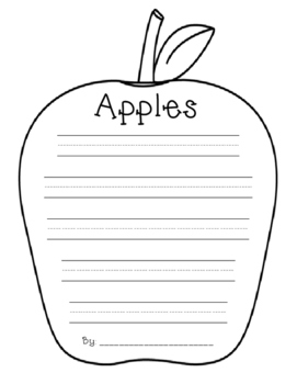 Apples Shape Poem/Writing Paper