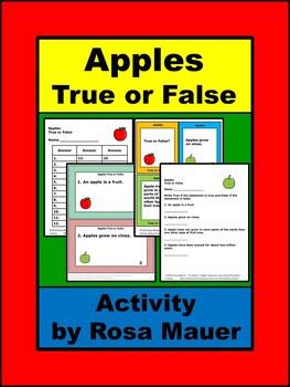 Apples Task Cards
