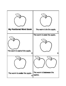 Apples Themed Positional Word Book