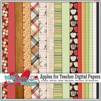 Apples for Teacher Digital Papers