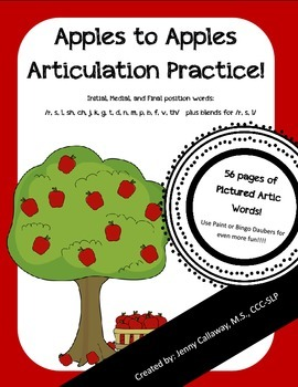 Apples to Apples ~ Articulation Practice!