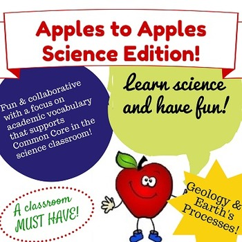 Apples to Apples Science Game - Geology & Earth Processes