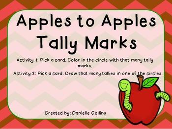 Apples to Apples Tallies FREEBIE
