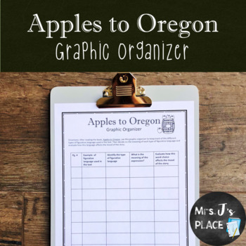 Apples to Oregon graphic organizer