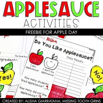 Applesauce Activities Freebie