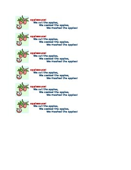 Applesauce Labels