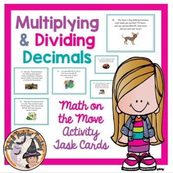 Applications of Multiplying and Dividing Decimals Word Pro