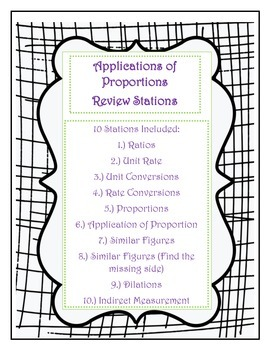 Applications of Proportions - Stations Activity
